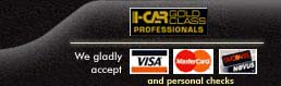 We gladly accept: Visa, Mastercard & Discover